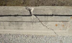 A bridge badly in need of repair near 230th Street and Spruce Avenue in Cerro Gordo county.